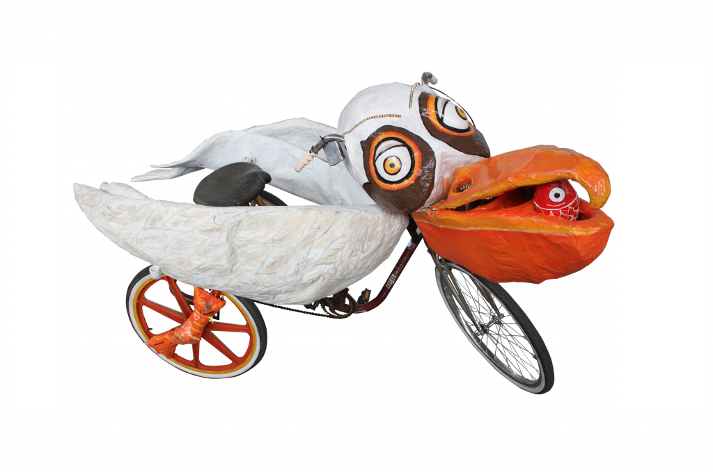 Krewe of Kolossos pelican art bike
