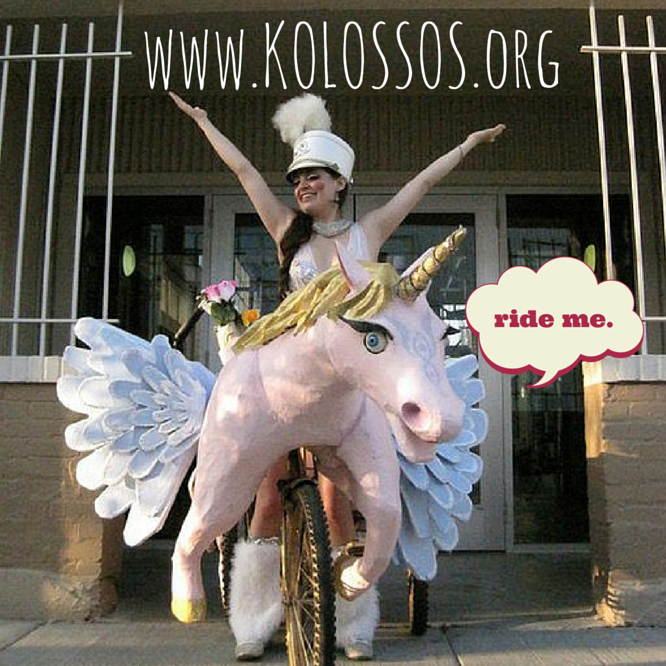 Ride in the Krewe of Kolossos this Carnival parade season.