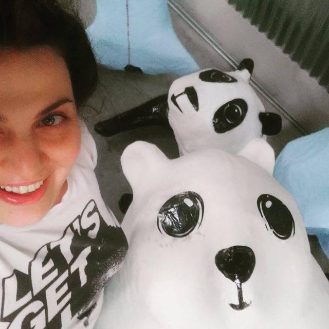 bears polarbear panda papermache paperart sculpture art artiststudio wip kolossoshellip