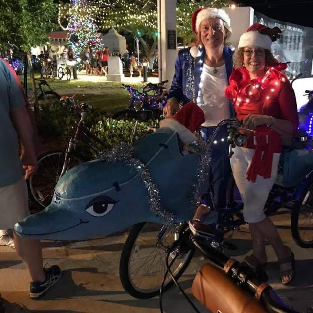 Our Kolossos dolphin art bike is parading in Key Westhellip