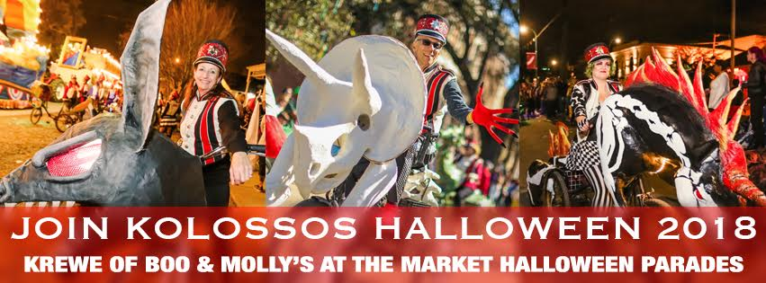 Be Kolossos for Halloween in New Orleans