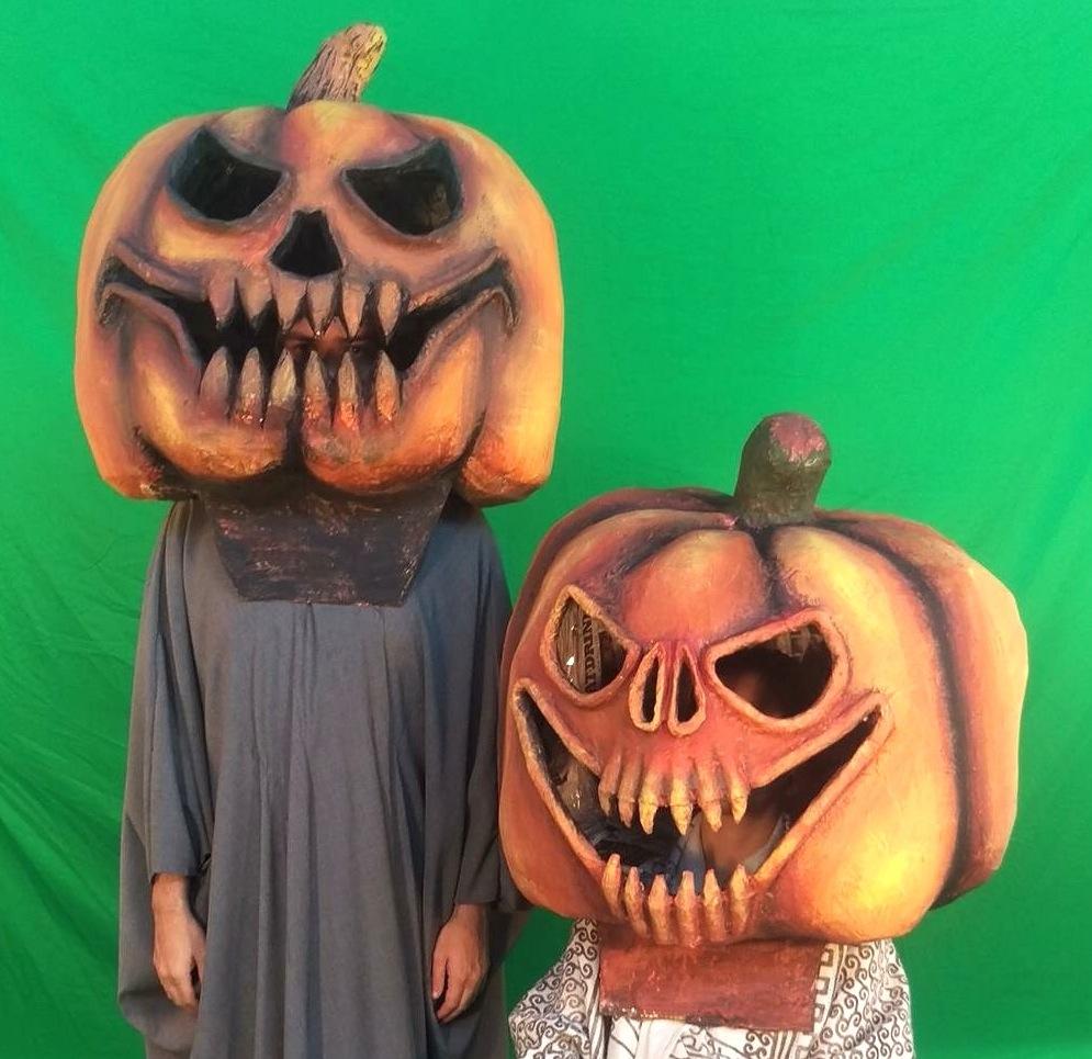 Krewe of Kolossos Pumpkin Paper Mache Big Heads