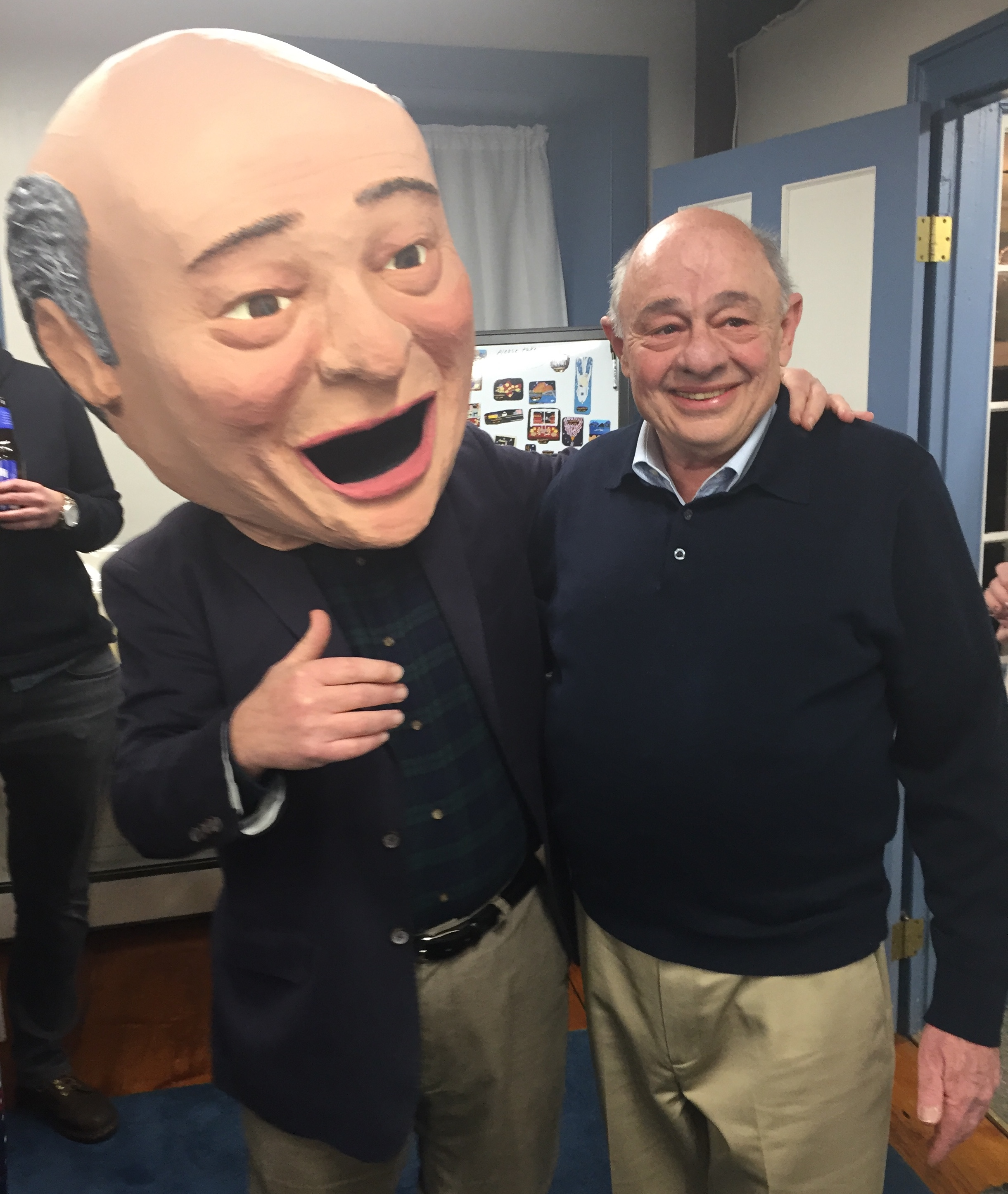 Artist Paul Nathan with Big Head