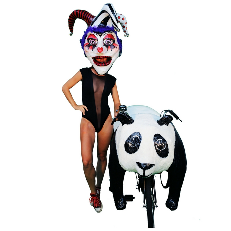 Panda bear art bike by the Krewe of Kolossos
