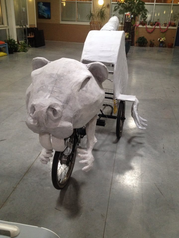 Nutria Art Bike ready to roll this Carnival with the Krewe of Kolossos
