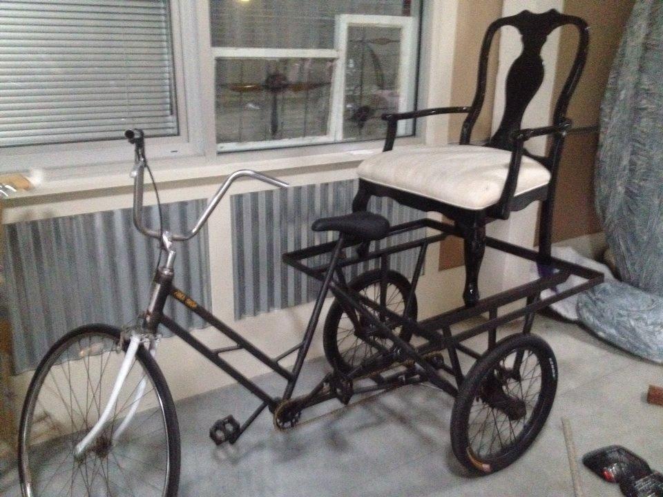 Krewe of Kolossos elephant chariot parade bike