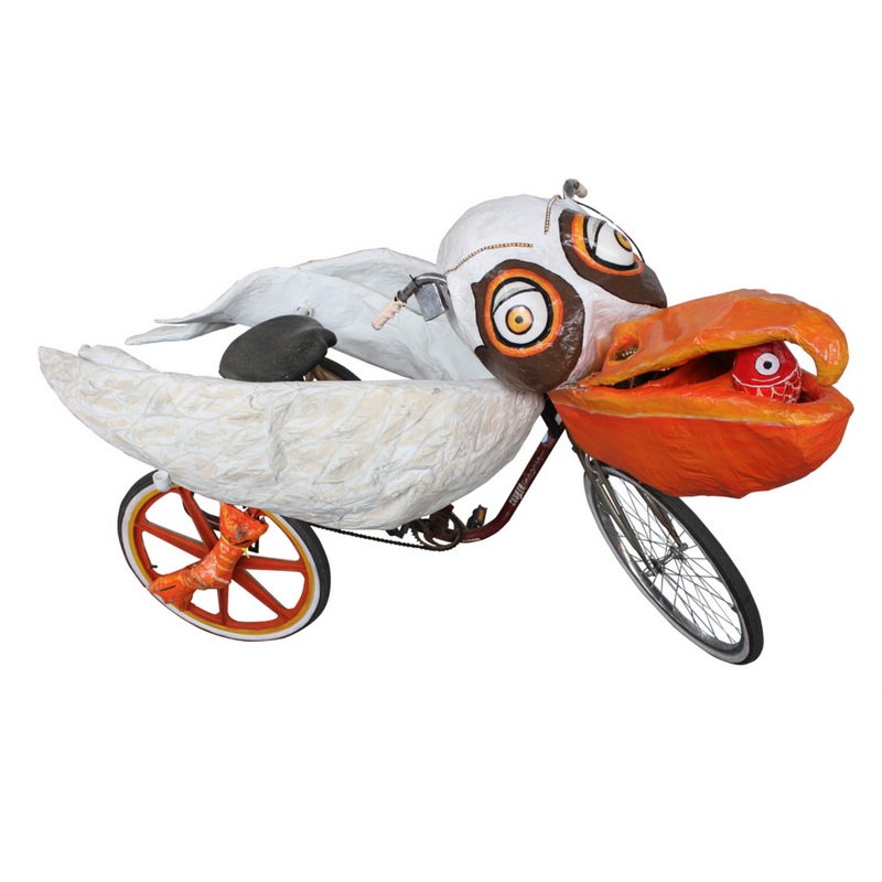 Krewe of Kolossos pelican art bike