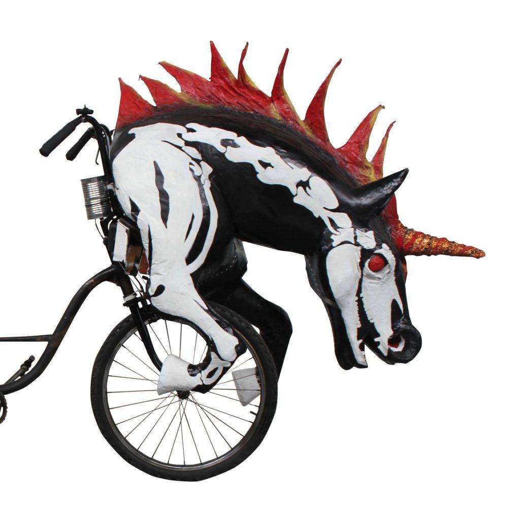 Parade bike by the Krewe of Kolossos and artist Katrina Brees